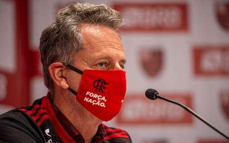 O presidente Rodolfo Landim foi à sede da CBF nesta segunda-feira (Foto: Marcelo Cortes / Flamengo)