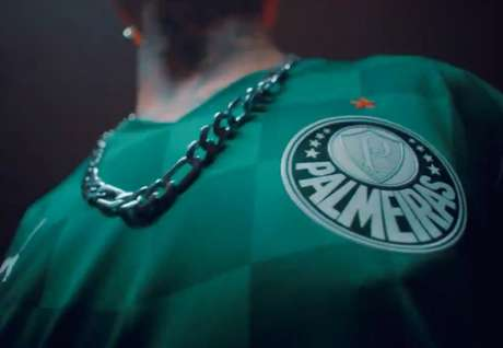 Detalhe da nova camisa do Palmeiras (Foto: Reprodução)