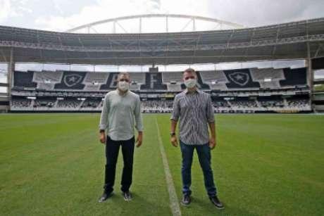 Marcelo Chamusca no estádio do Botafogo (Foto: Divulgação/Botafogo)