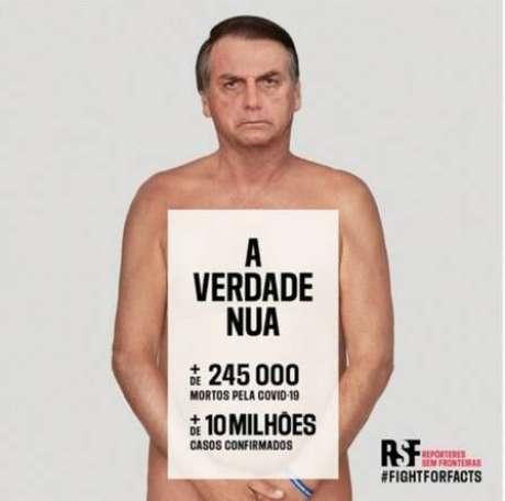 Repórteres Sem Fronteiras lançam campanha contra o presidente Jair Bolsonaro