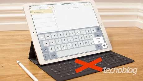 Ajustando o teclado no iPad