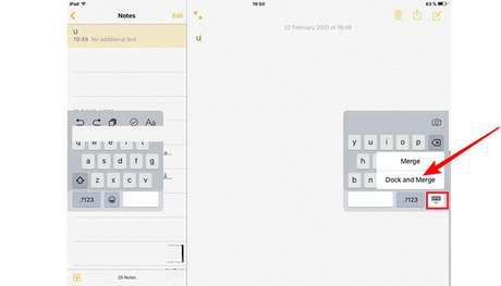 Juntando o teclado no iPad