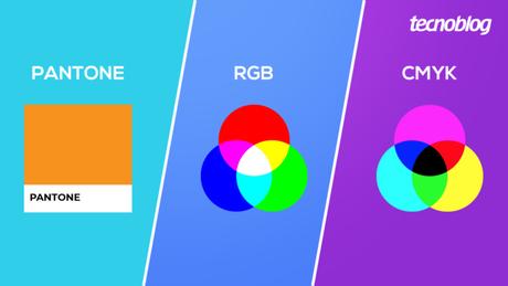Diferença entre Pantone, RGB e CMYK