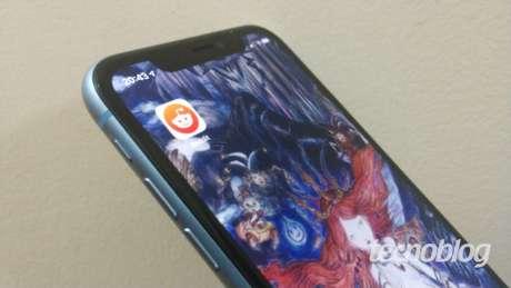 App do Reddit no iPhone