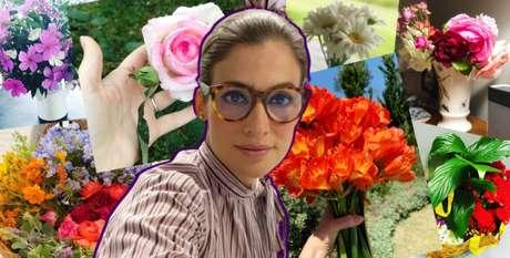 A dama das flores: Renata Vasconcellos gosta de espalhar o colorido da natureza em casa