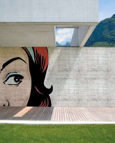 37. Modelo de muro com grafite. Fonte: Pinterest