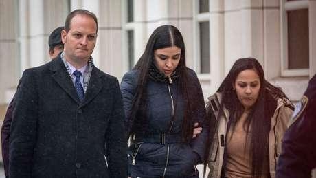 Emma Coronel Aispuro acompanhou de perto julgamento do marido nos EUA