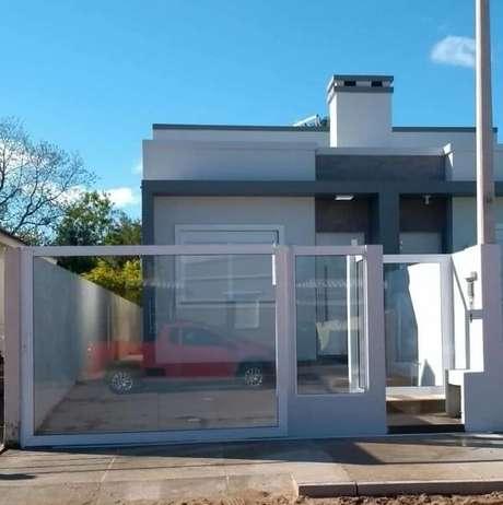 13. Casa compacta com modelo de muro simples. Fonte: Juliana Martins Coruja