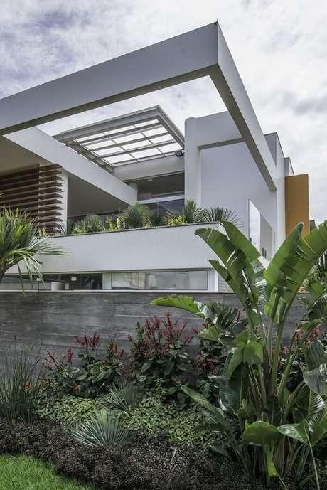 12. As plantas podem camuflar os modelos de muros simples. Projeto por Barillari Arquitetura