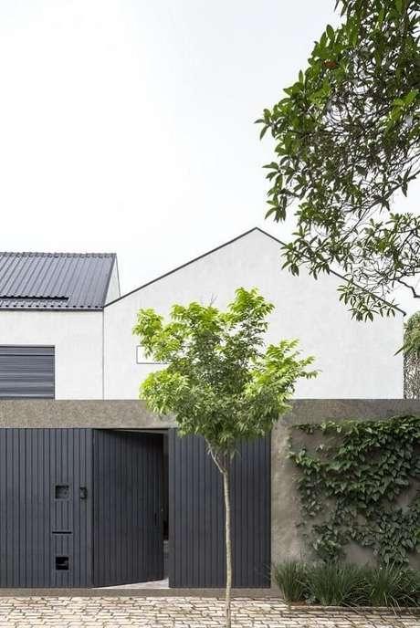 1. O modelo de muro simples traz segurança para a residência. Fonte: Felipe Hess