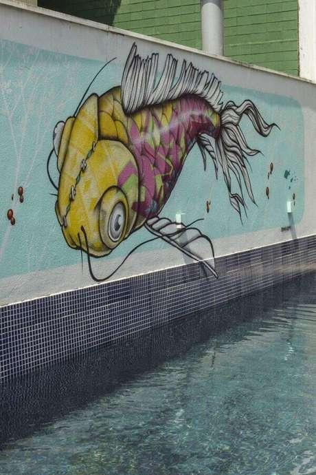 57. Modelo de muro moderno feito com grafite. Fonte: Pinterest