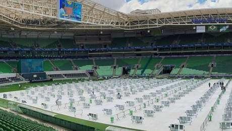 Allianz Parque terá mesas e distanciamento social para transmissão da final da Copa do Brasil