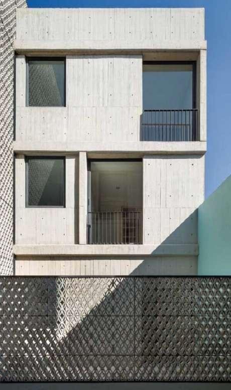60. Modelo de muro moderno feito em cobogó. Fonte: Pinterest