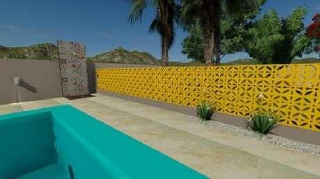 45. Modelo de muro de casa em cobogó delimita a área externa. Fonte: Pinterest