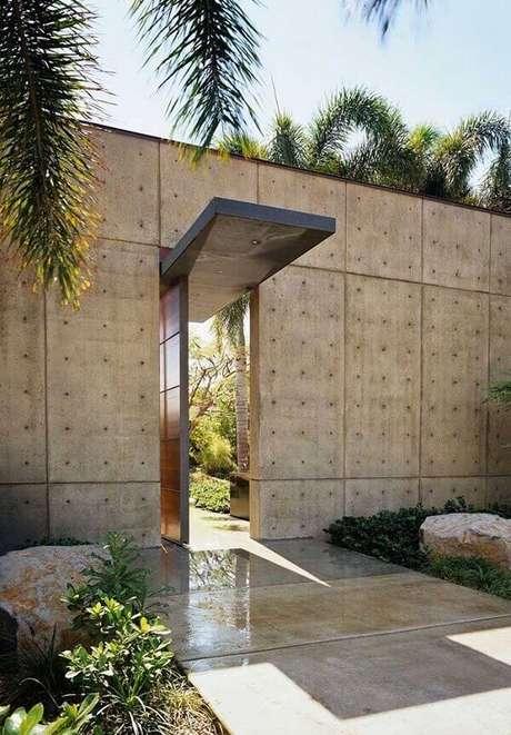 58. Modelo de muro moderno feito com placas de concreto. Fonte: Pinterest