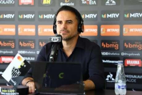 Caetano deu entrevista na Cidade do Galo sobre temas que geram interesse no torcedor-(Pedro Souza/Atlético-MG)