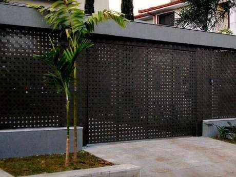 30. Modelo de muro com chapa de ferro vazada. Fonte: Pinterest