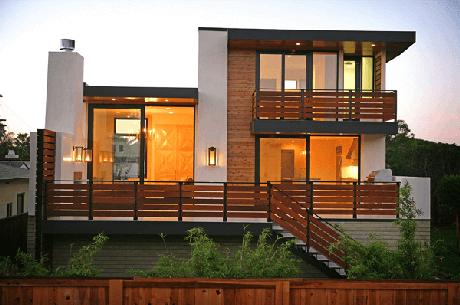 47. Modelo de muro de casa feito em madeira. Fonte: Pinterest