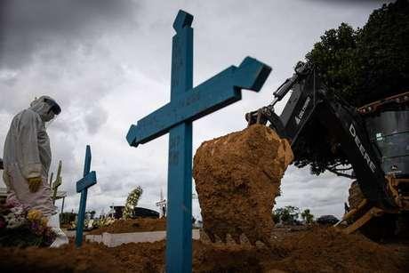 Mortes no Brasil estão acima das mil por dia há mais de um mês