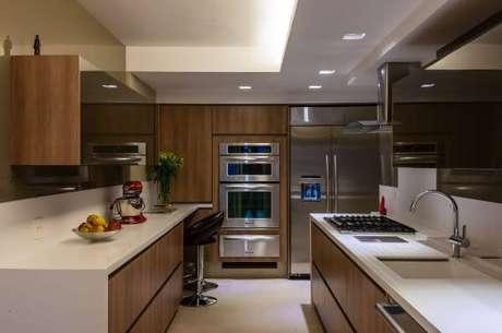 15. Bancada de cozinha em granito branca – Via: Maricy Marcos Borges