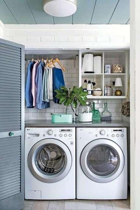 47. Revestimento para parede de lavanderia do tipo Metro White. Fonte: Pinterest