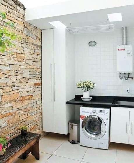 24. O revestimento para lavanderia externa deve ser escolhido com cuidado. Fonte: Revista VD