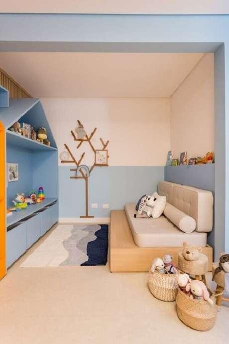 33. Quarto para criança com decoração em tons pastéis – Foto: Vestida de Mãe