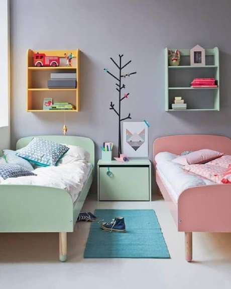 5. Uma decoração colorida é excelente para o quarto de criança – Foto: MdeMulher