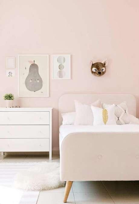 9. A cor rosa é a mais usada na decoração de quarto para criança menina – Foto: Cute & Paste