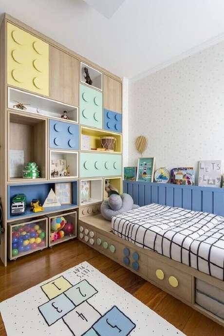 4. Invista em móveis divertidos para a decoração de quarto para criança – Foto: Pinterest