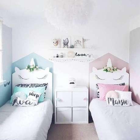 27. Decoração de quarto para criança com tema unicórnio – Foto: Pinterest