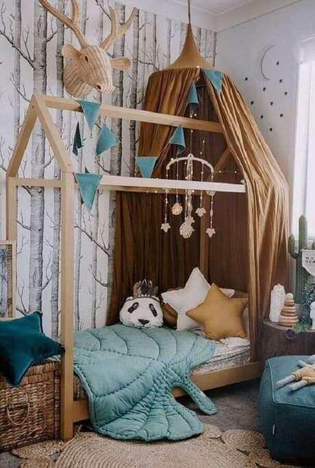 13. Cama casinha para decoração de quarto para criança – Foto: Pinterest