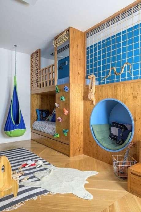 31. Um quarto para criança amplo e bem planejado pode se transformar em um espaço incrível para muita diversão – Foto: NaToca Design
