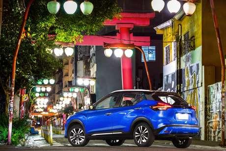 Novo Nissan Kicks, japonês na marca, no bairro da Liberdade,  em São Paulo.
