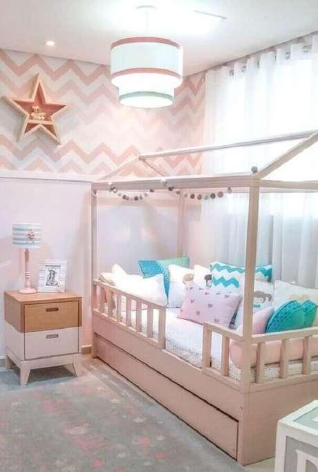 29. Tons de rosa são os mais usados na decoração de quarto para criança menina – Foto: Pinterest