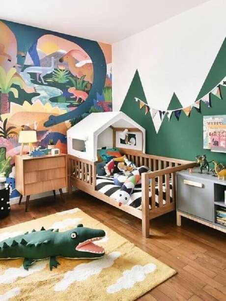 6. O papel de parede é um grande diferencial na decoração de quarto para criança – Foto: MOOUI