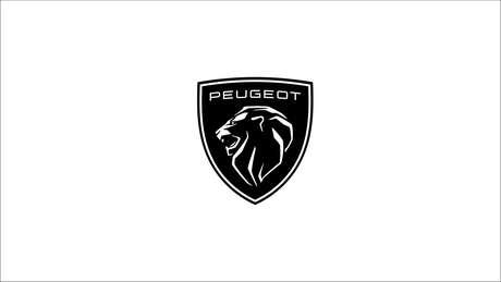 Novo logotipo da Peugeot em versão branca.