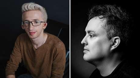 Jérémy Gabriel (esq) e Mike Ward (dir): o jovem, que é portador de deficiência, diz que piada grosseira do humorista o levou a pensar em suicídio