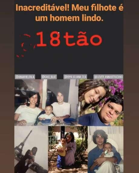 Nos stories do Instagram, Caio Blat fez homenagem ao filho Antonio