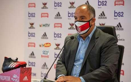 Braz se pronunciou nas redes após título do Fla (Foto: Alexandre Vidal / Flamengo)