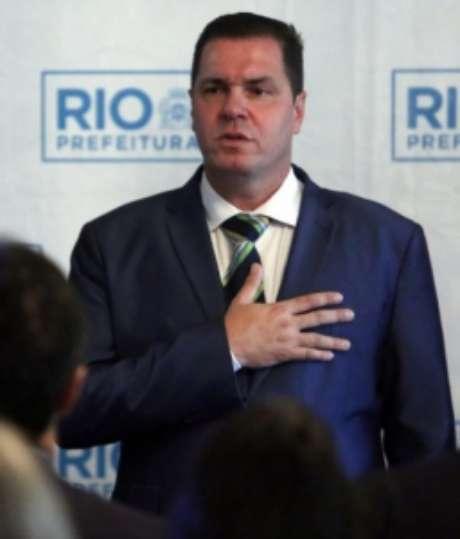Gutemberg em cerimônia da Prefeitura do Rio (Marcos de Paula/Prefeitura do Rio)