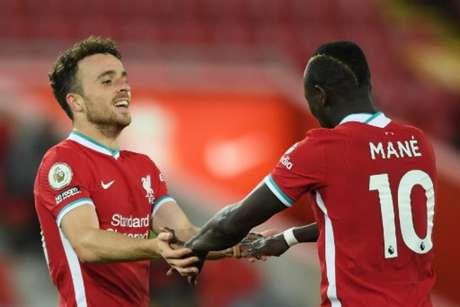 Liverpool conta com a volta de Diogo Jota para a partida (STU FORSTER / POOL / AFP)