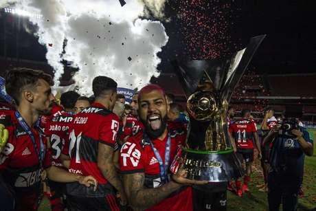 Fla ou Real? Gabigol dispara que, assim como time espanhol, jogadores querem atuar no Rubro-Negro (Foto: Alexandre Vidal/Flamengo)