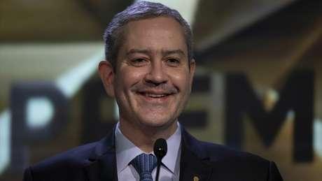 """O presidente Rogério Caboclo durante o """"Prêmio Brasileirão"""", na sede da CBF (Foto: Lucas Figueiredo/CBF)"""