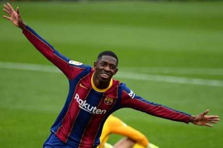 Dembélé inaugurou o marcador a favor do Barcelona contra o Sevilla (CRISTINA QUICLER / AFP)