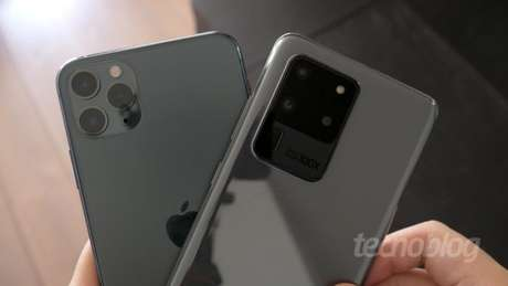 iPhone 11 Pro Max e Galaxy S20 Ultra