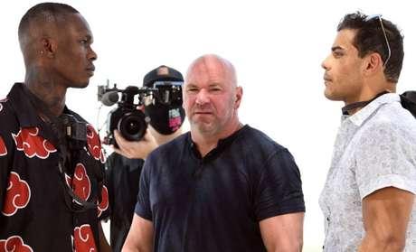 Israel Adesanya e Paulo Borrachinha fazem encarada antes do UFC 253