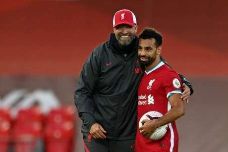 Klopp elogiou Salah e quer que atacante fique no Liverpool (Foto: Shaun Botterill/POOL/AFP)