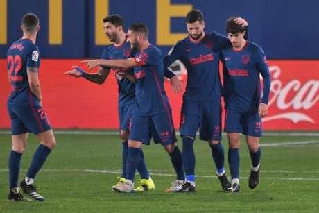 Atlético derrotou o Villarreal neste domingo (Foto: JOSE JORDAN / AFP)