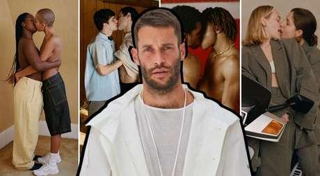 A campanha 'lacradora' do estilista Jacquemus (ao centro) promove o amor contra o preconceito